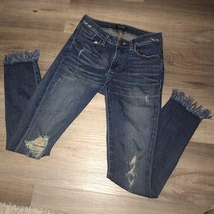 Buffalo David Bitton Mid Rise Cropped Jeans